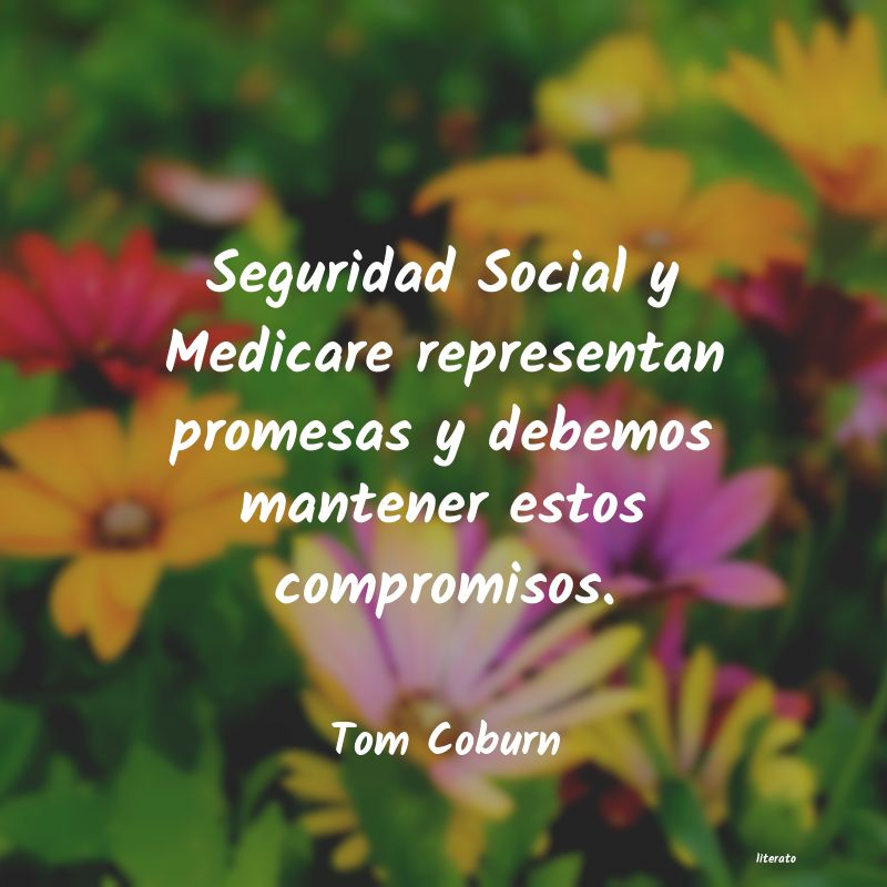 Tom Coburn Seguridad Social Y Medicare Re