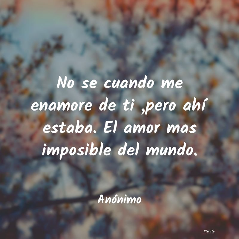 Frases De Amor Imposible Literato