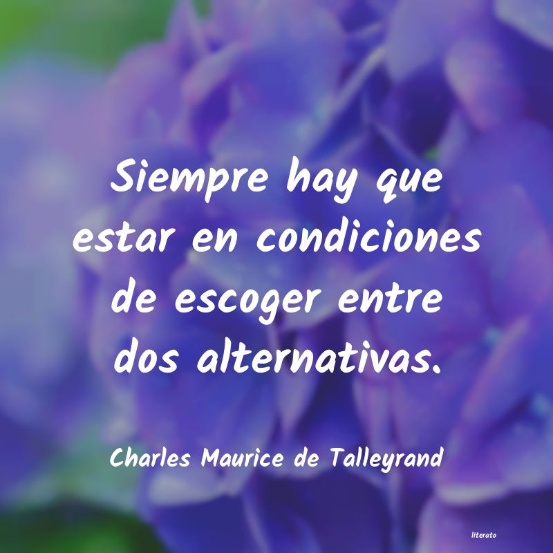 Frases de Charles Maurice de Talleyrand