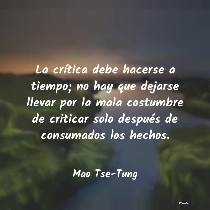 Frases De Mao Tse Tung Literato