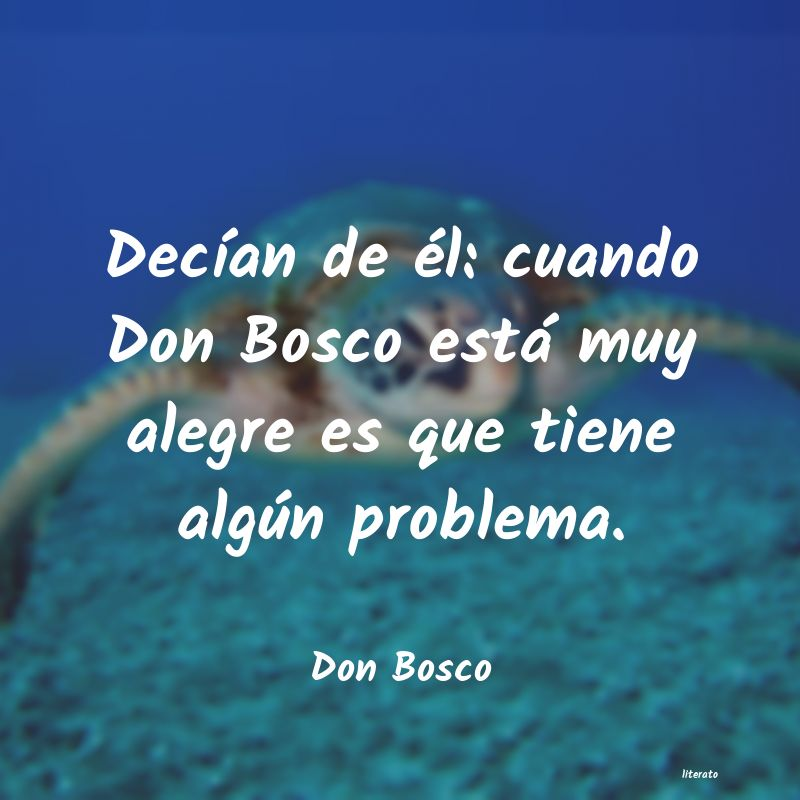Frases Amistad Don Bosco Literato