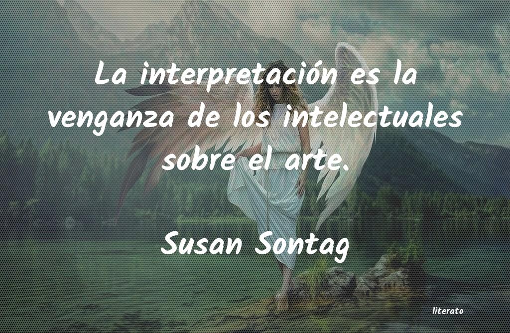 Susan Sontag La Interpretación Es La Venga