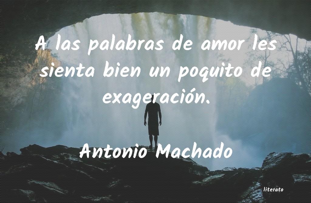 Antonio Machado A Las Palabras De Amor Les Sie
