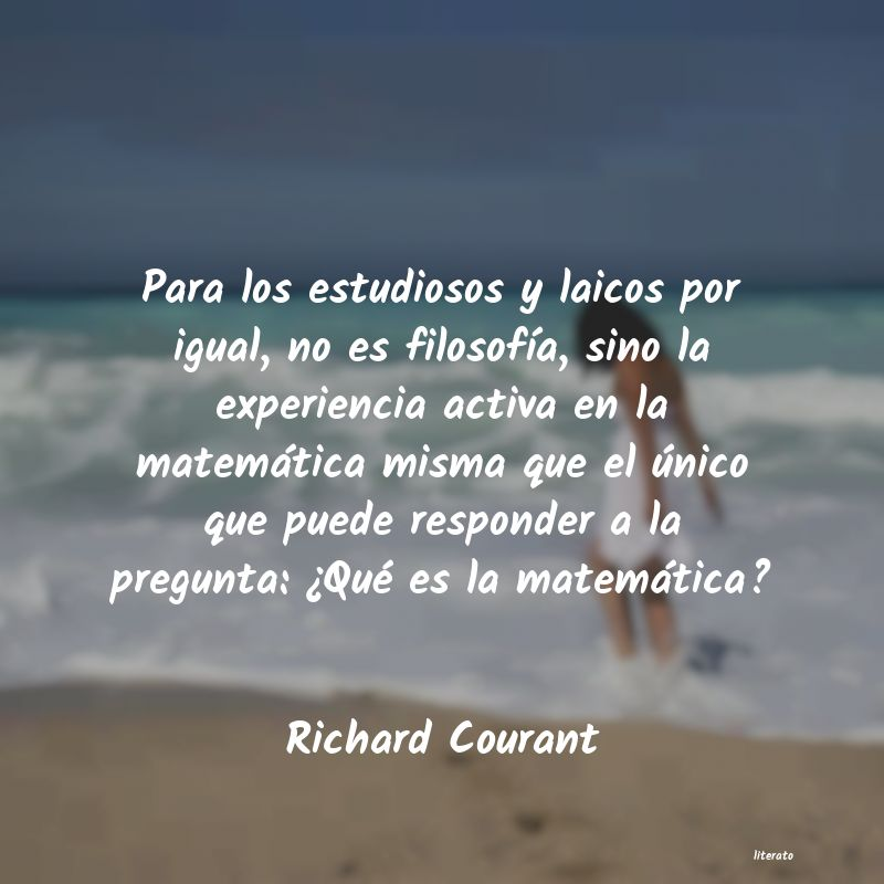 Frases de Richard Courant