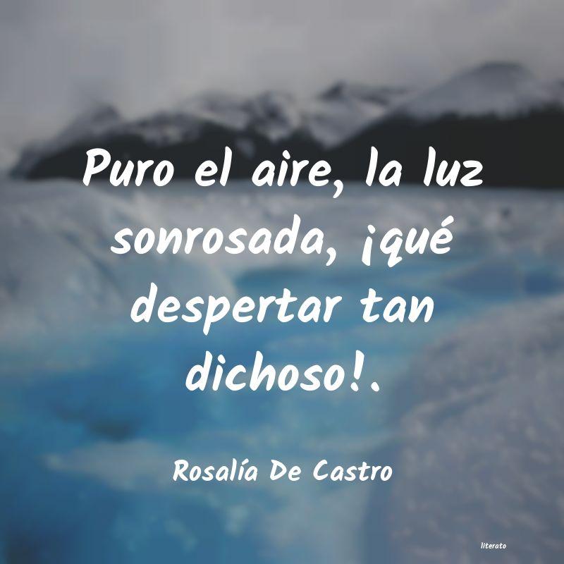 Rosalía De Castro Puro El Aire La Luz Sonrosada