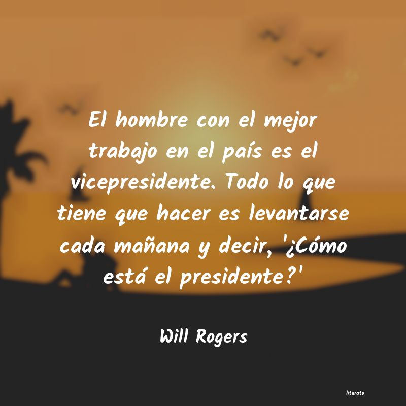 Frases de Will Rogers