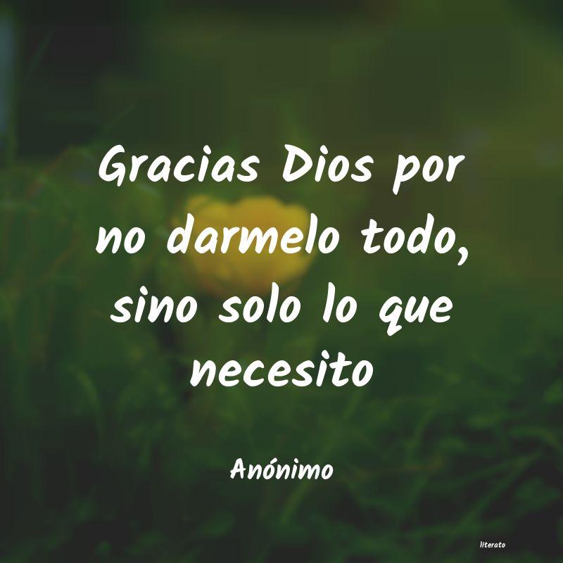 Frases De Agradecimiento A Dios Literato