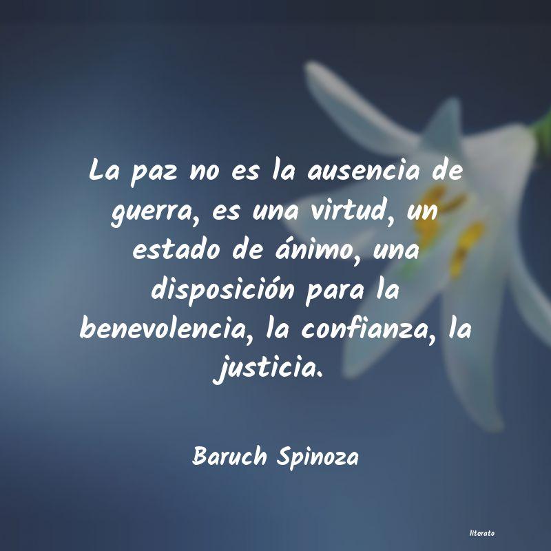 Baruch Spinoza La Paz No Es La Ausencia De Gu