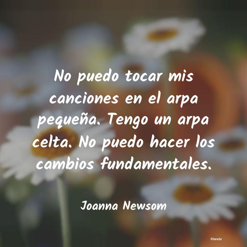 Joanna Newsom No Puedo Tocar Mis Canciones E