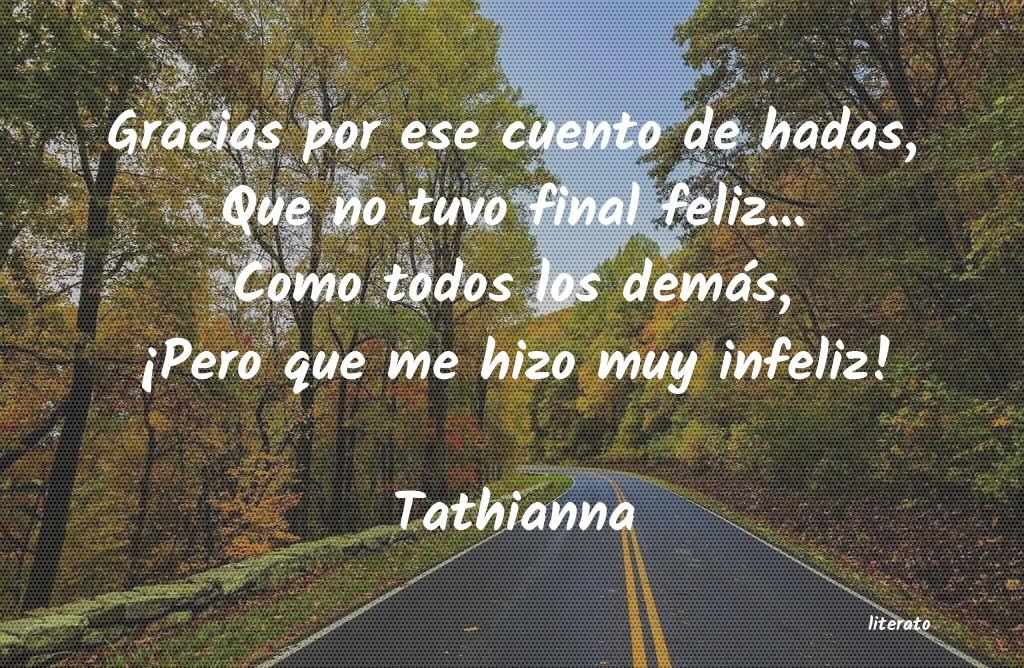 Tathianna Gracias Por Ese Cuento De Hada