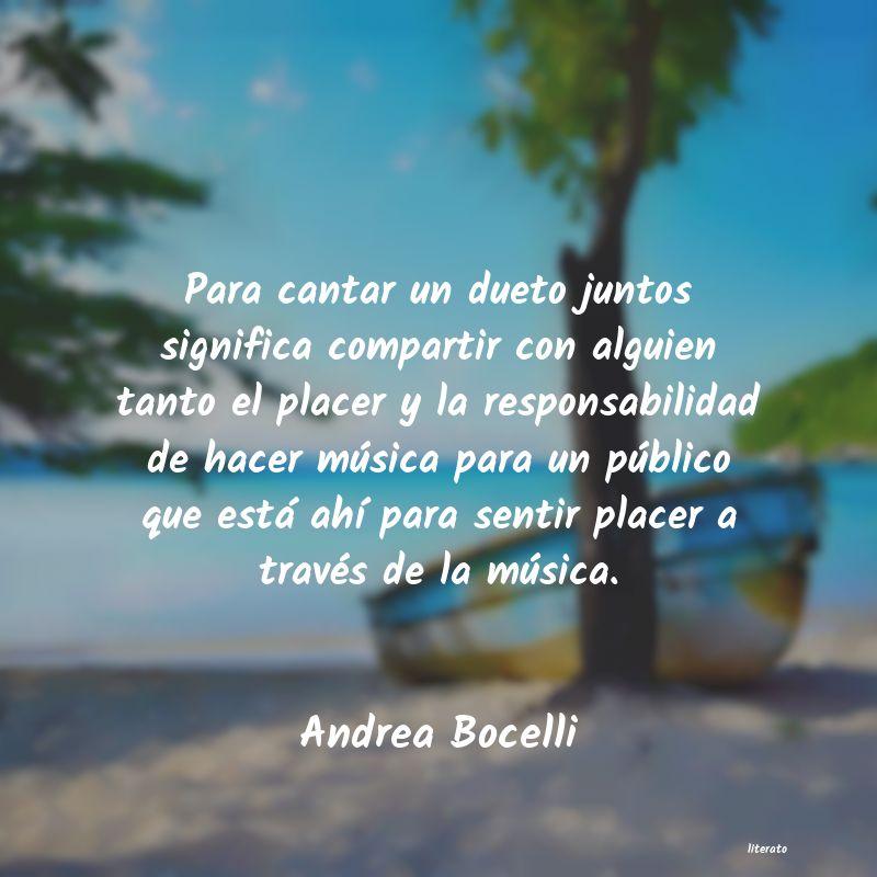 Andrea Bocelli Para Cantar Un Dueto Juntos Si