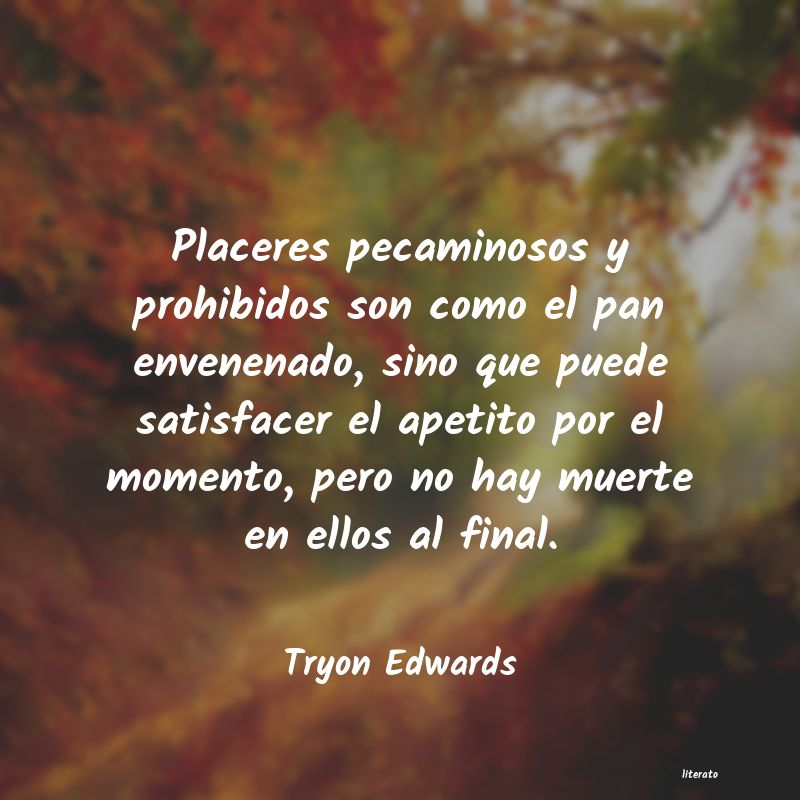 Frases de Tryon Edwards