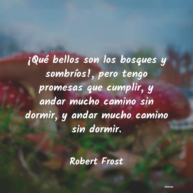 Robert Frost Qué Bellos Son Los Bosques