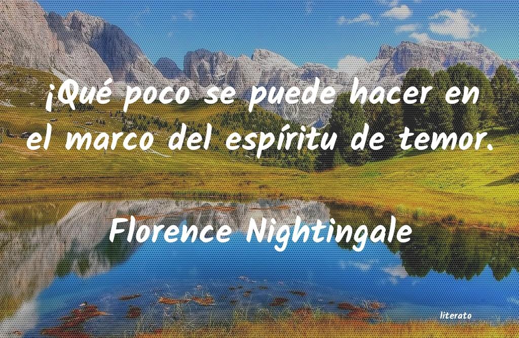 Florence Nightingale Qué Poco Se Puede Hacer En