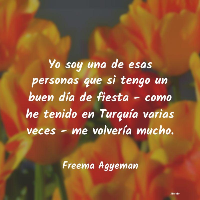 Freema Agyeman Yo Soy Una De Esas Personas Qu