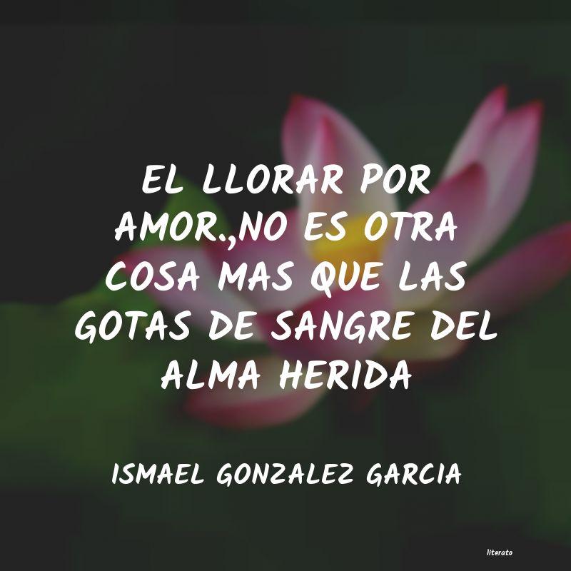 Ismael Gonzalez Garcia El Llorar Por Amorno Es Otra
