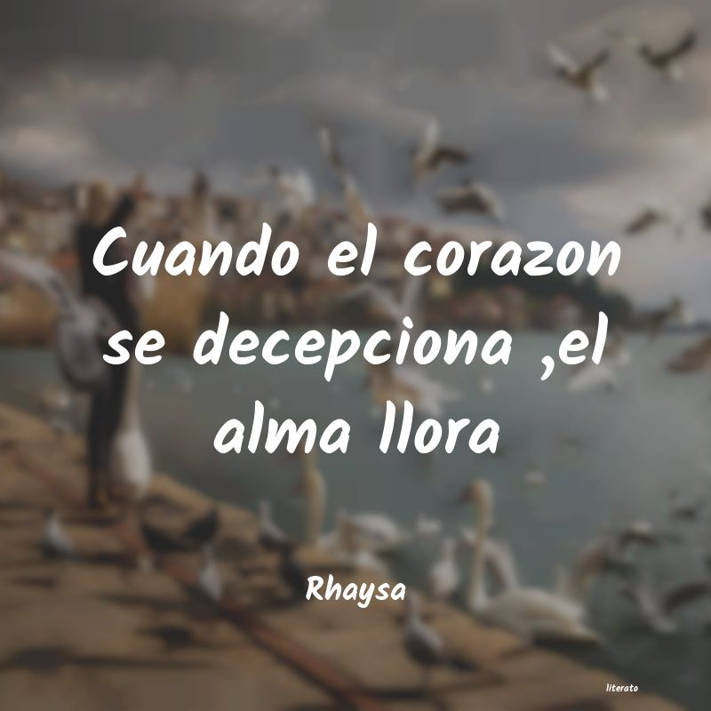 Rhaysa Cuando El Corazon Se Decepcion