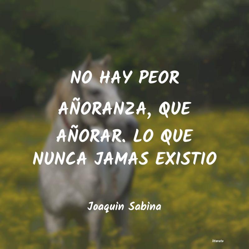 Joaquin Sabina No Hay Peor Añoranza Que Añ