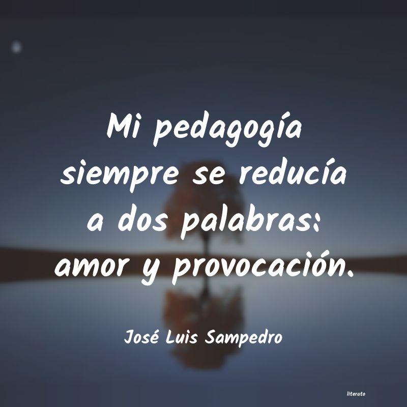 José Luis Sampedro Mi Pedagogía Siempre Se Reduc