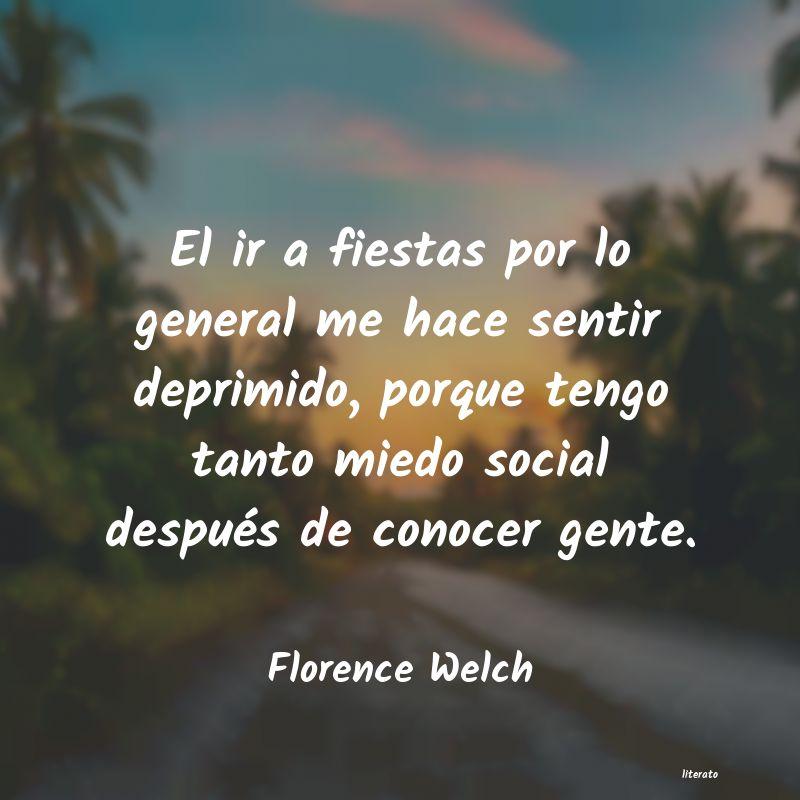 Florence Welch El Ir A Fiestas Por Lo General