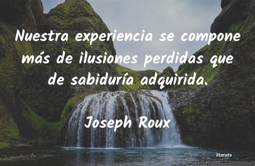 Joseph Roux Nuestra Experiencia Se Compone