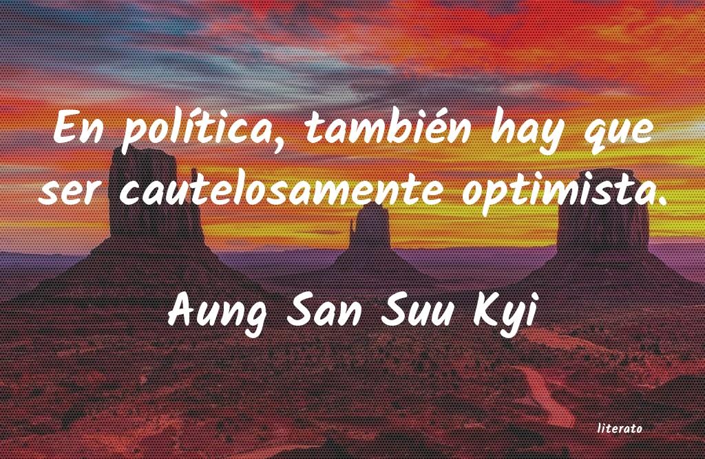 Aung San Suu Kyi En Política También Hay Que