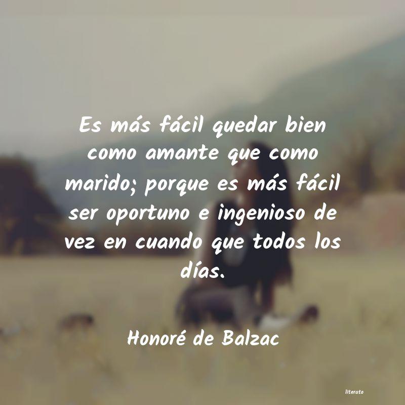 Honoré De Balzac Es Más Fácil Quedar Bien Com