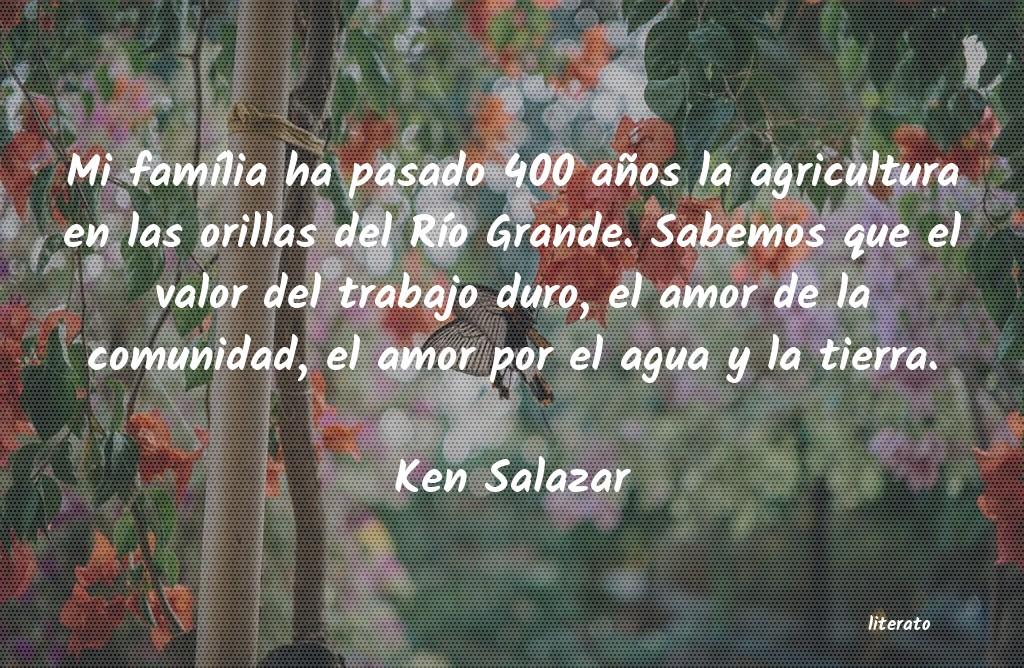 Ken Salazar Mi Família Ha Pasado 400 Año