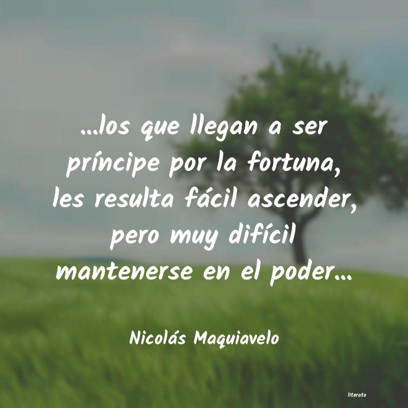 Nicolás Maquiavelo Los Que Llegan A Ser Prínc
