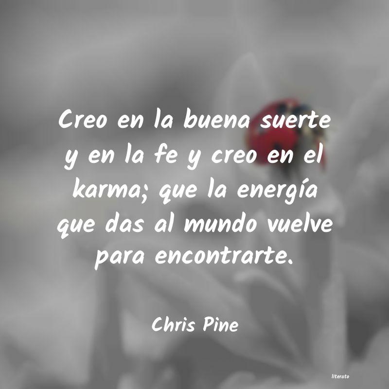 Chris Pine Creo En La Buena Suerte Y En L