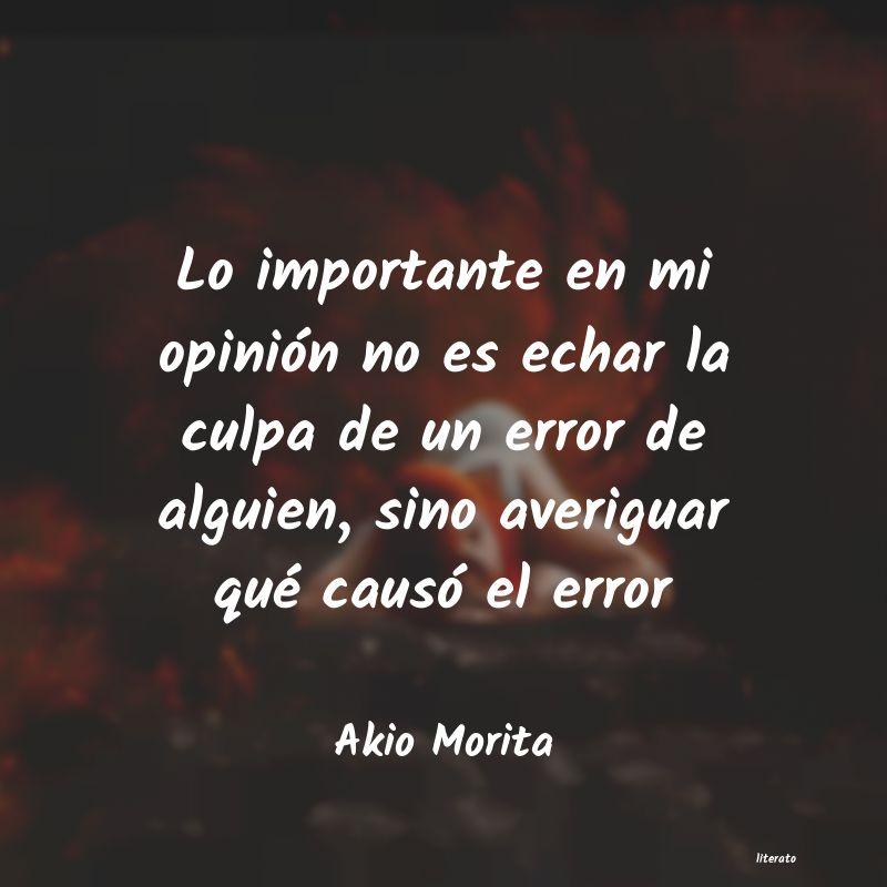 Akio Morita Lo Importante En Mi Opinión N
