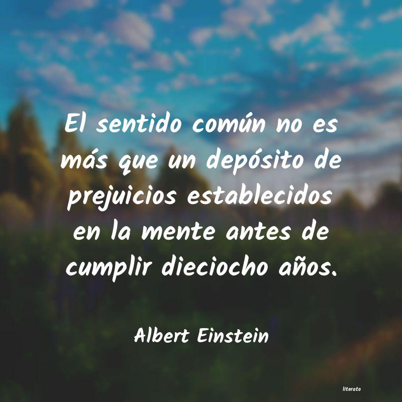 Albert Einstein El Sentido Común No Es Más Q