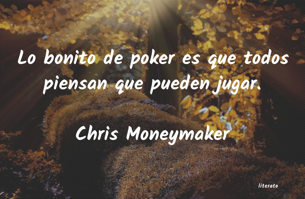 Frases de Chris Moneymaker