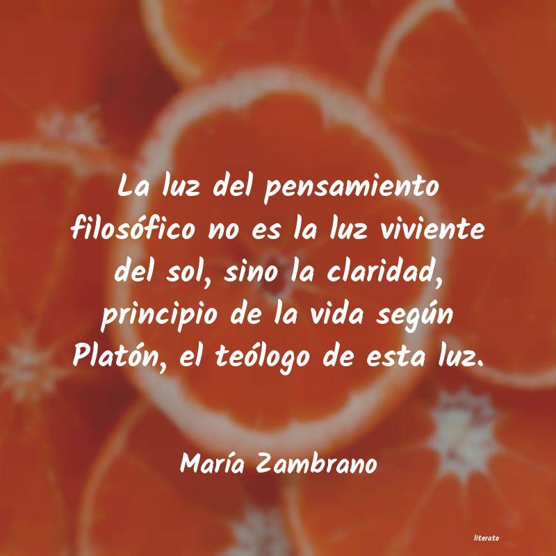 María Zambrano La Luz Del Pensamiento Filosó