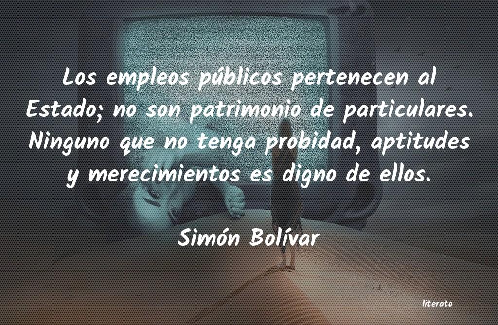 Simón Bolívar Los Empleos Públicos Pertenec