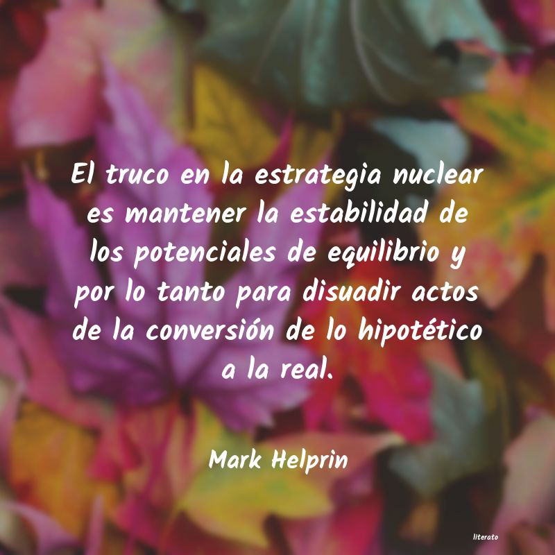 Frases de Mark Helprin