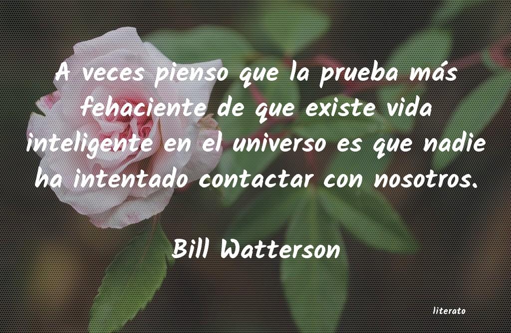 Bill Watterson A Veces Pienso Que La Prueba M