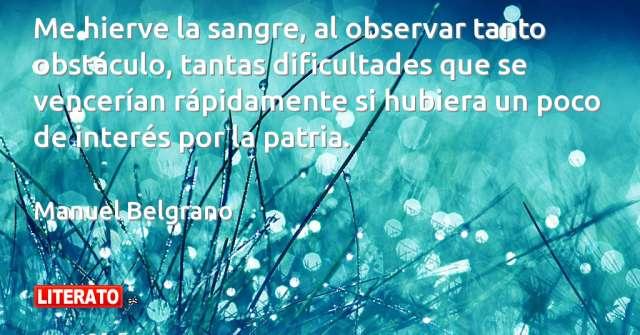 Frases de Manuel Belgrano