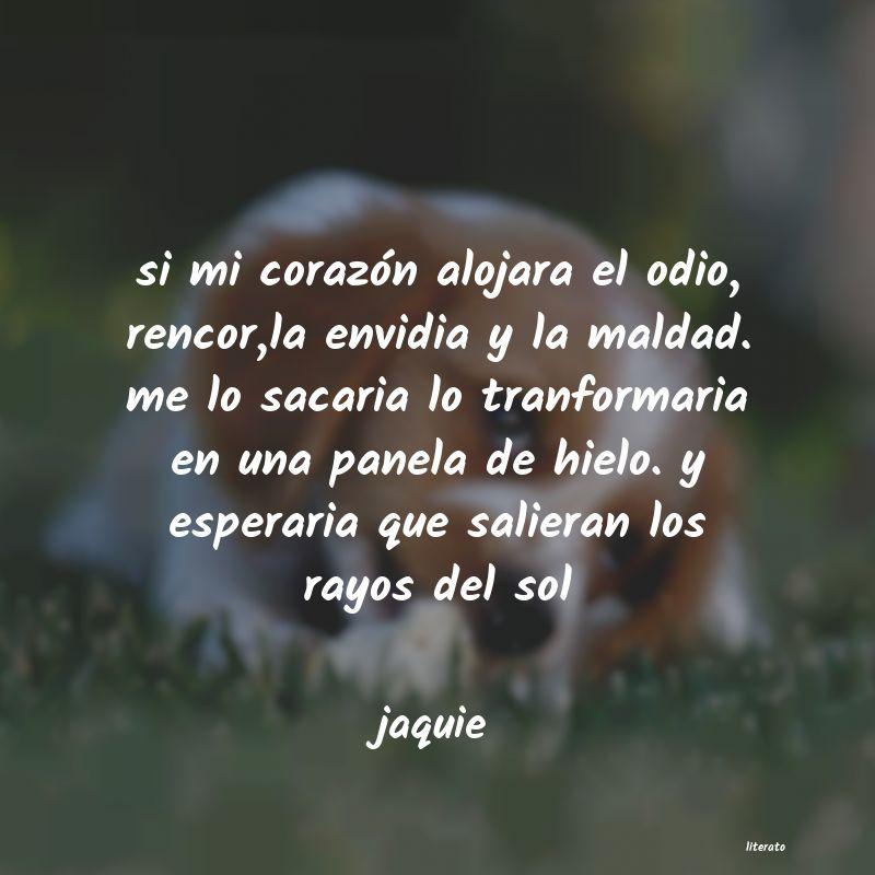 Jaquie Si Mi Corazón Alojara El Odio