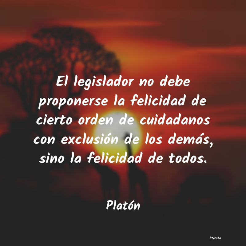 Frases De Platon Sobre La Felicidad Literato