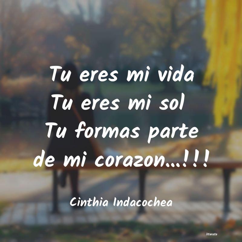 Cinthia Indacochea Tu Eres Mi Vida Tu Eres Mi Sol