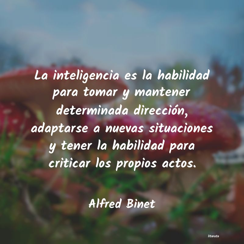 Alfred Binet La Inteligencia Es La Habilida