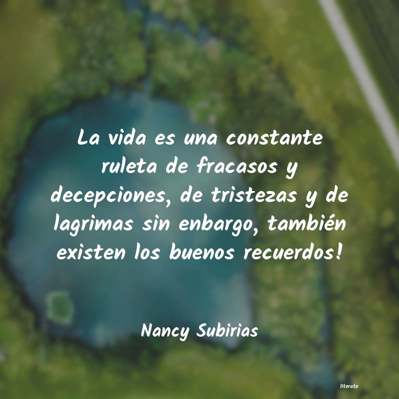 Nancy Subirias La Vida Es Una Constante Rulet