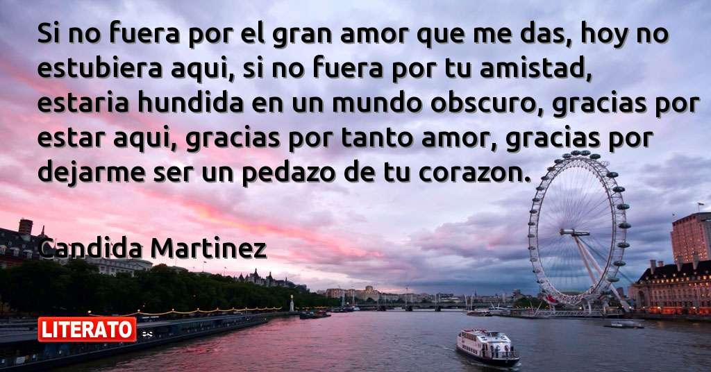 Candida Martinez Si No Fuera Por El Gran Amor Que Me Das