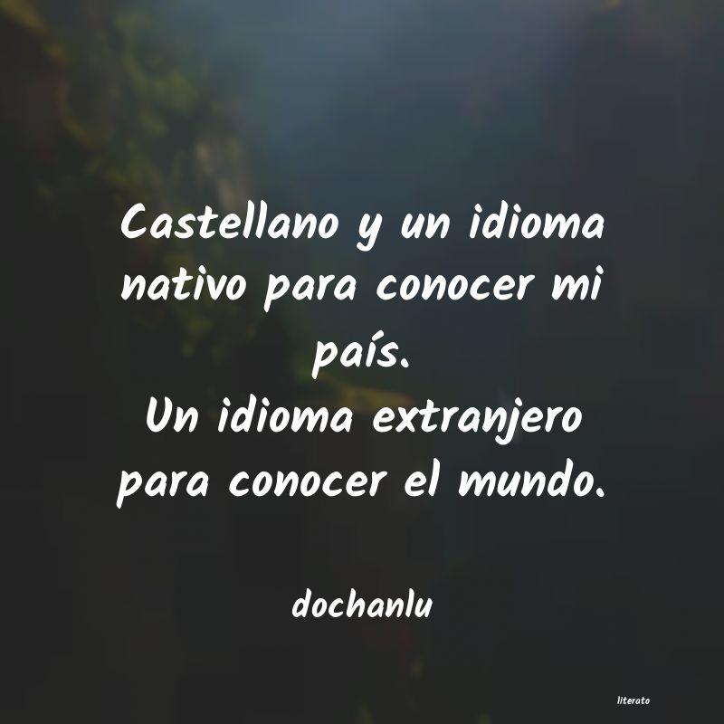 Dochanlu Castellano Y Un Idioma Nativo