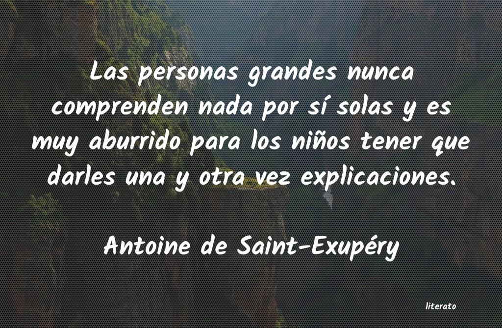 Antoine De Saint Exupéry Las Personas Grandes Nunca Com
