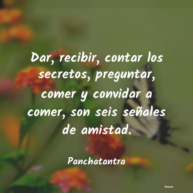 Panchatantra Dar Recibir Contar Los Secre