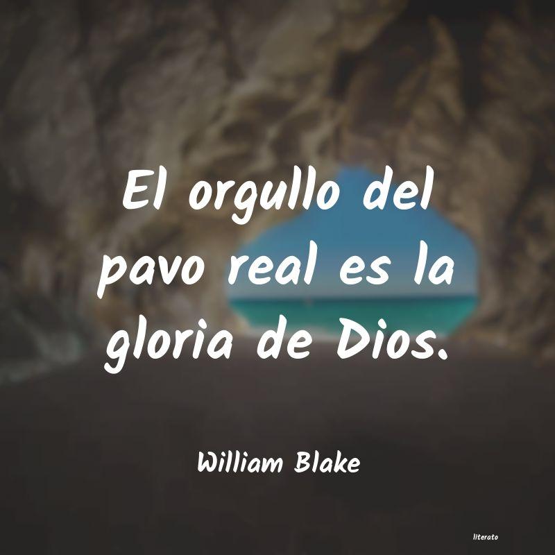 William Blake El Orgullo Del Pavo Real Es La