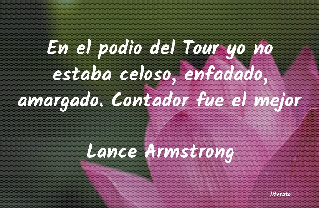 Lance Armstrong En El Podio Del Tour Yo No Est