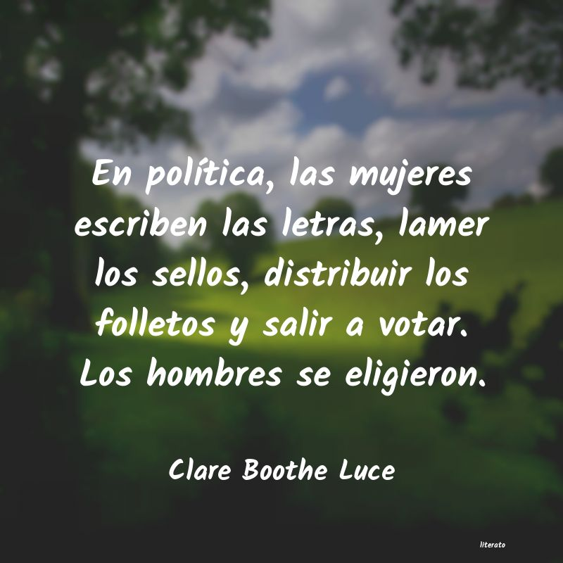 Frases de Clare Boothe Luce
